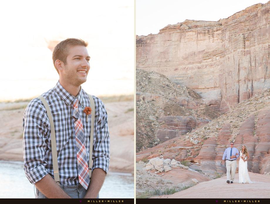 Utah desert mountain top scenic wedding
