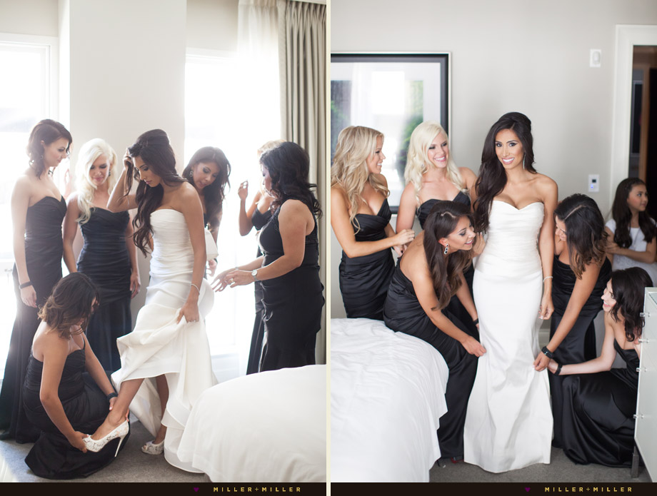 black white modern wedding