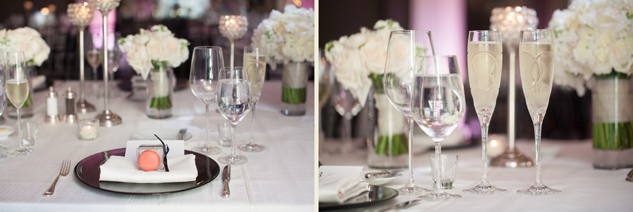 black white tie luxurious reception