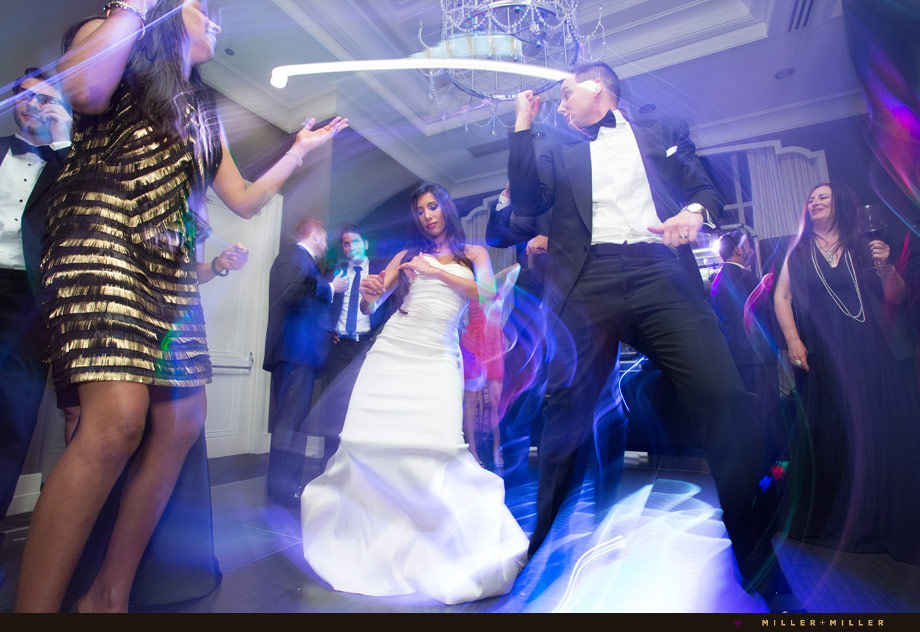 colorful reception dancing photographs