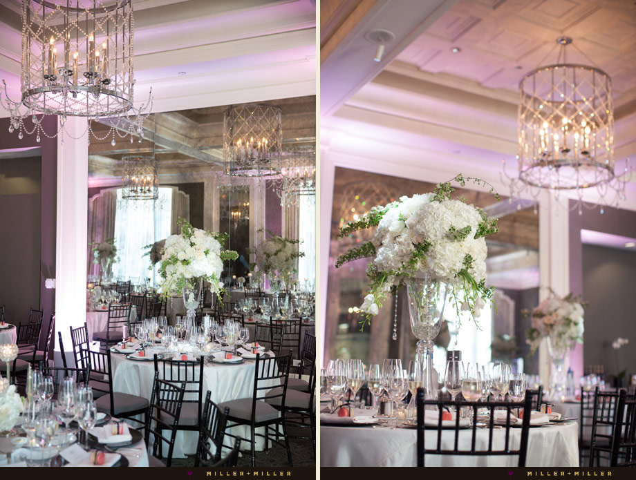 crystal chandeliers Parisian wedding style