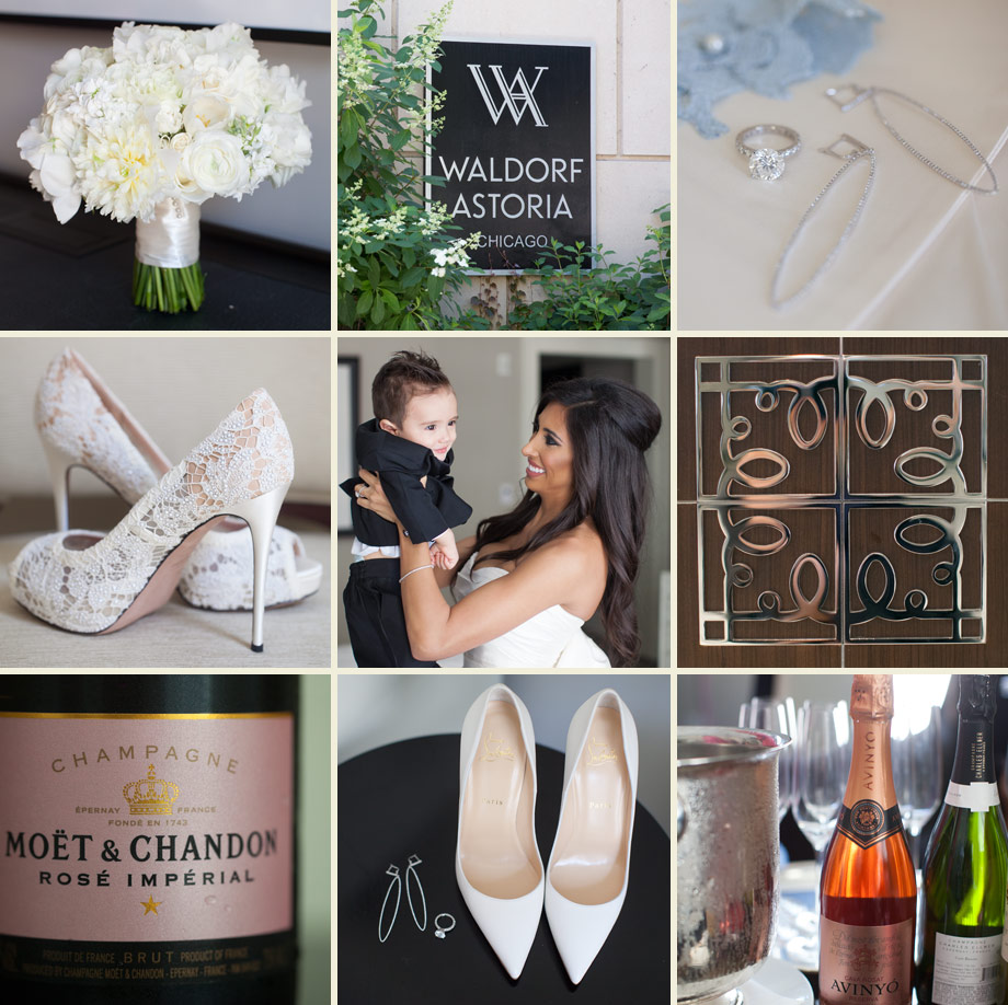 waldorf astoria chicago luxury wedding