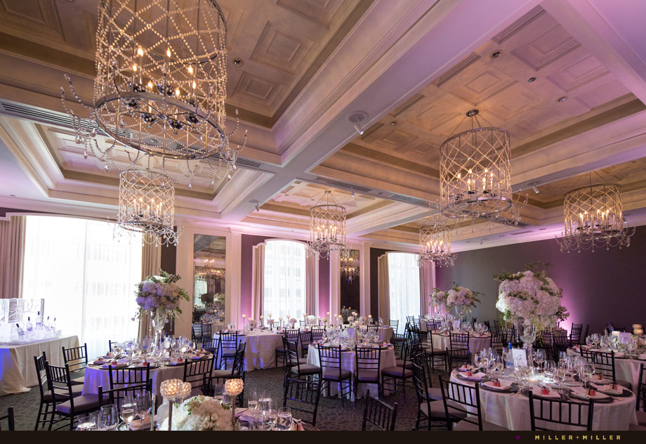 Waldorf Sinclair ballroom purple lighting