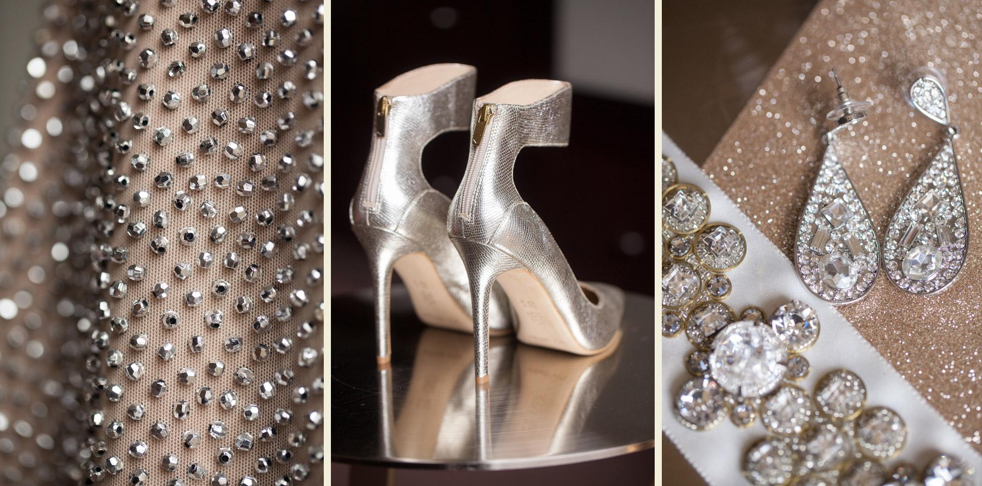 gold glitzy metallic modern wedding trend