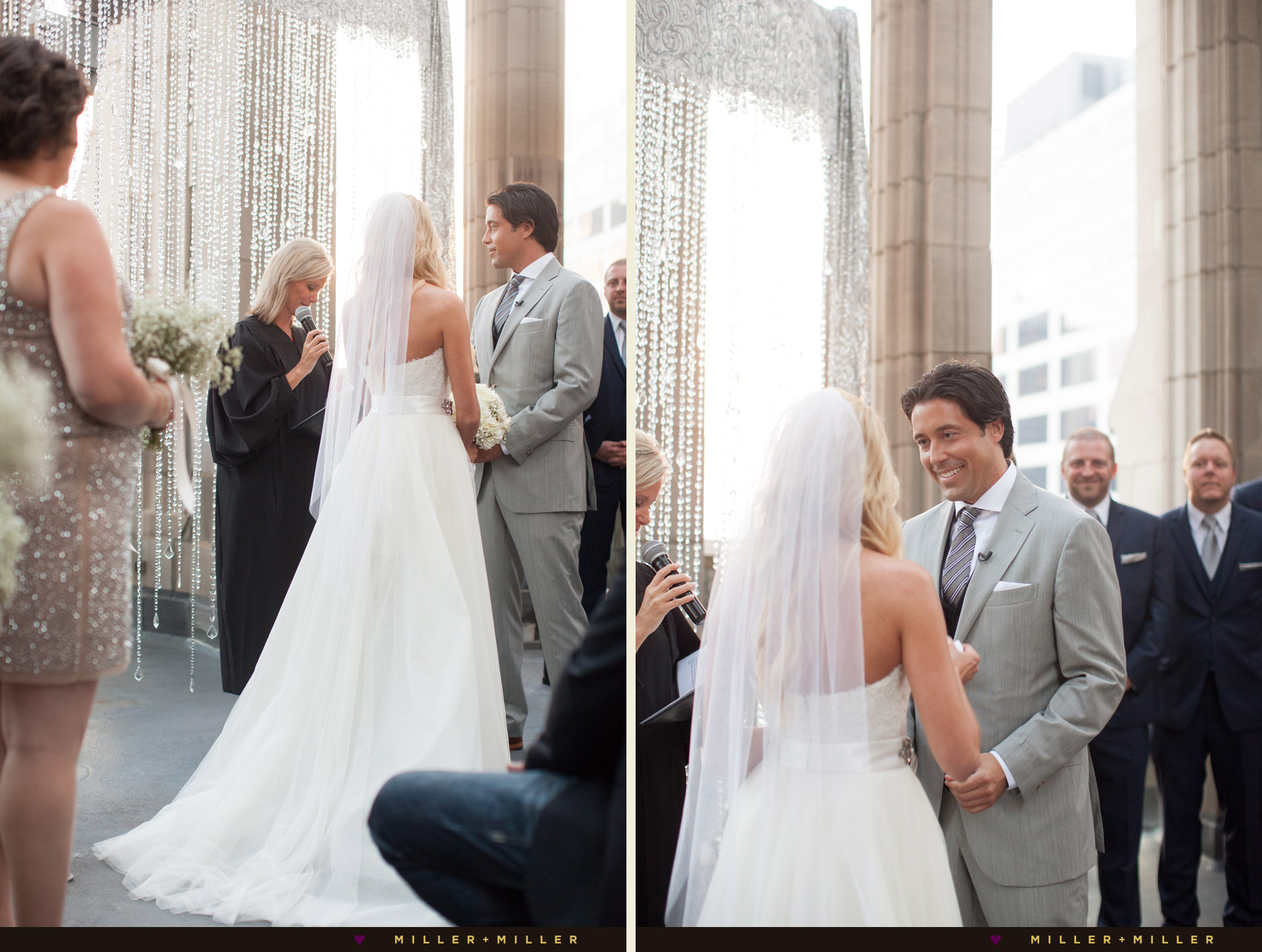 photos Chicago rooftop wedding