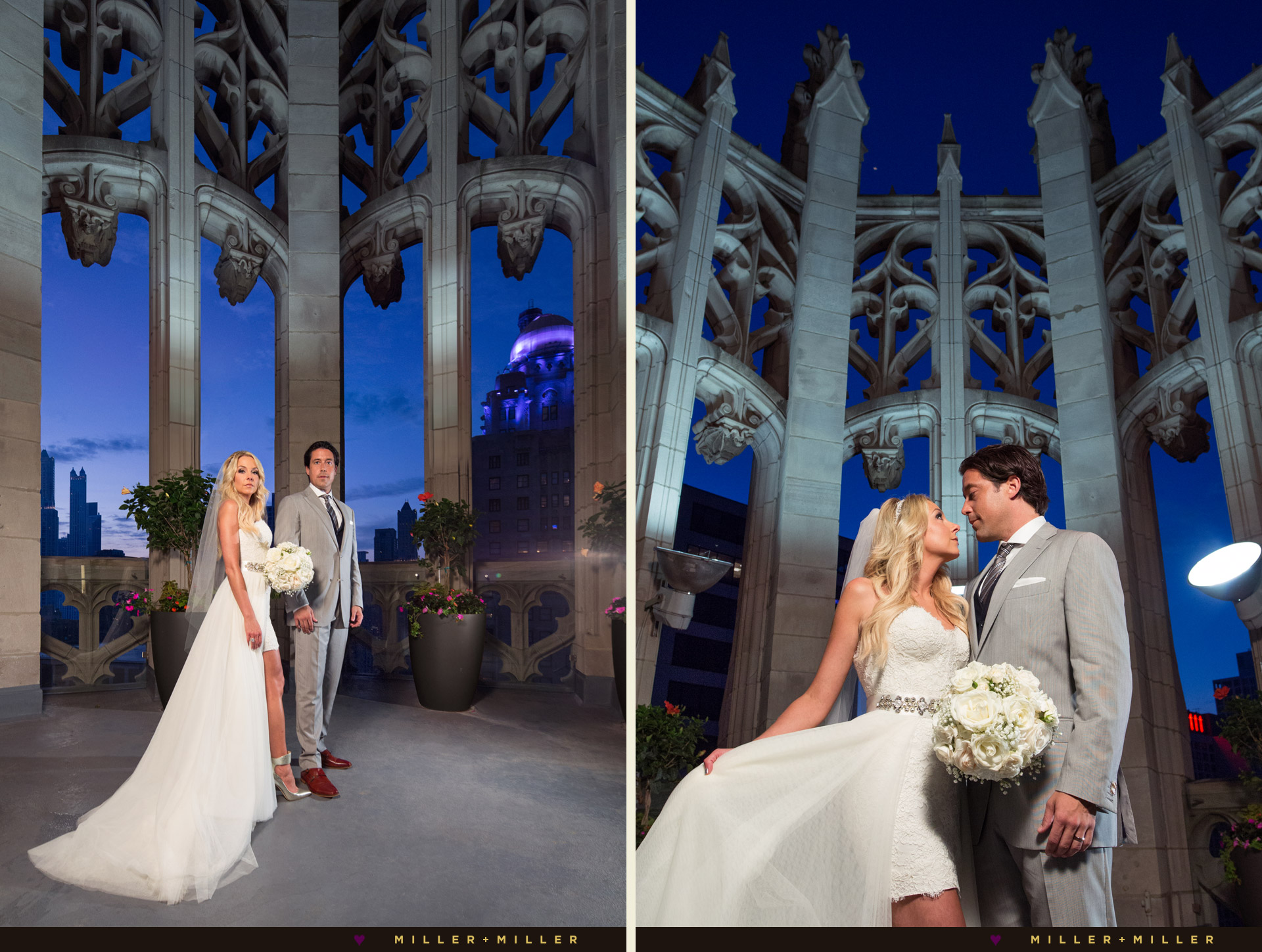 Tribune tower wedding crown