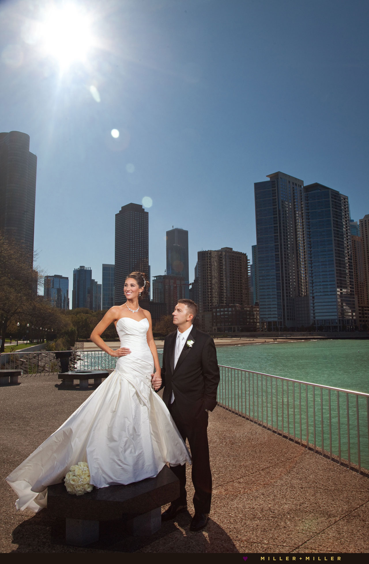 MCA Kovler Atrium Kern Terrace wedding pictures