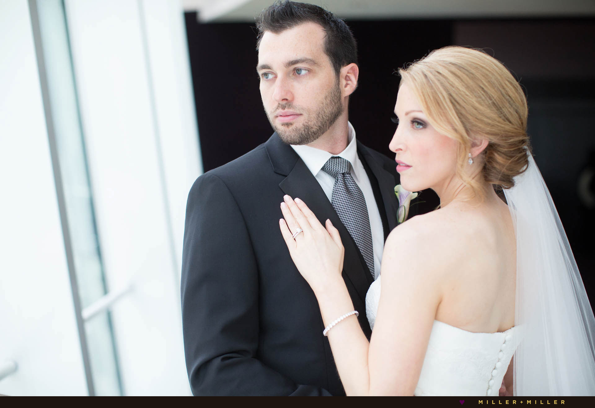 modern downtown Chicago hotel wedding
