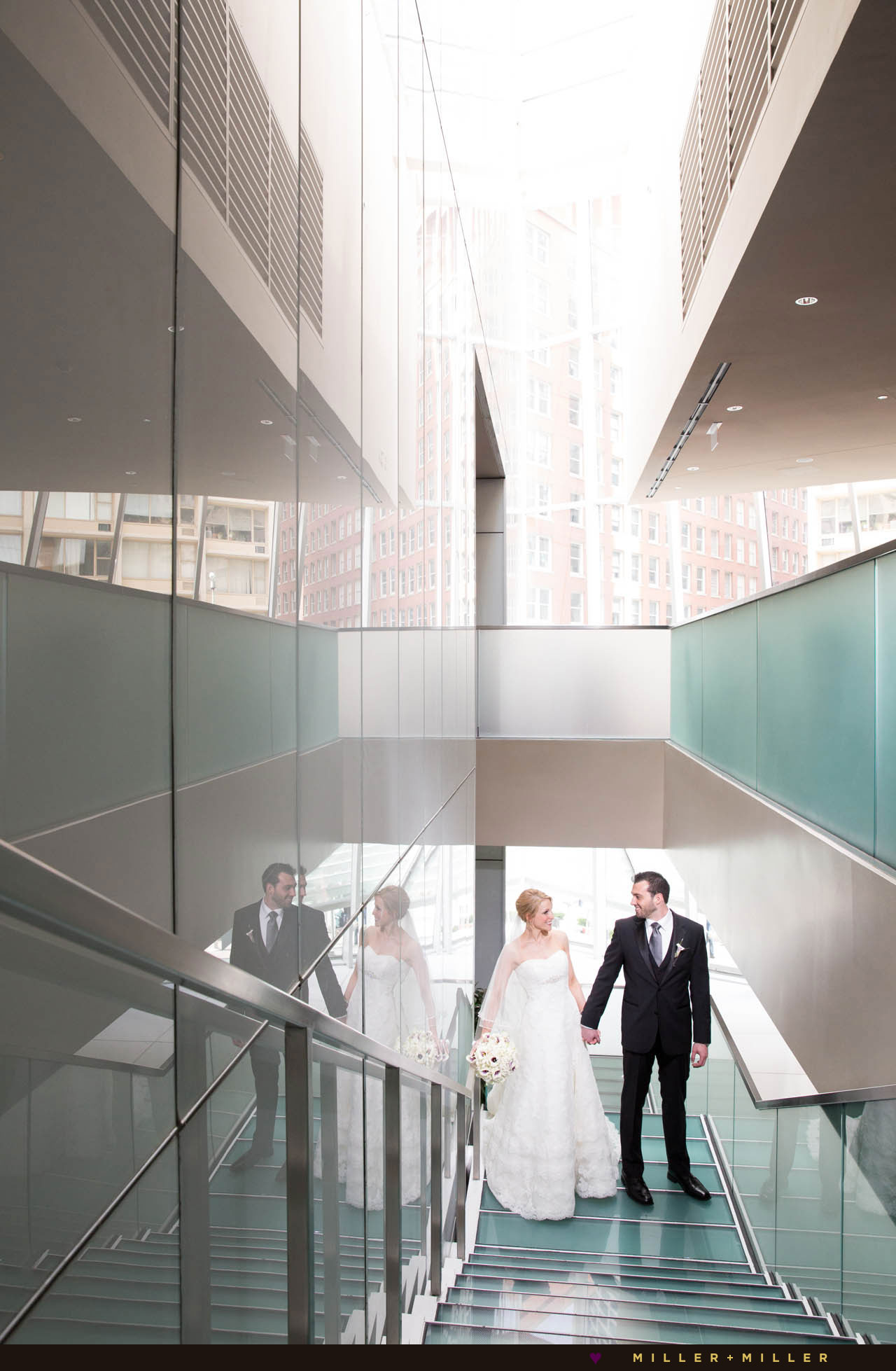 modern hotel downtown Chicago wedding