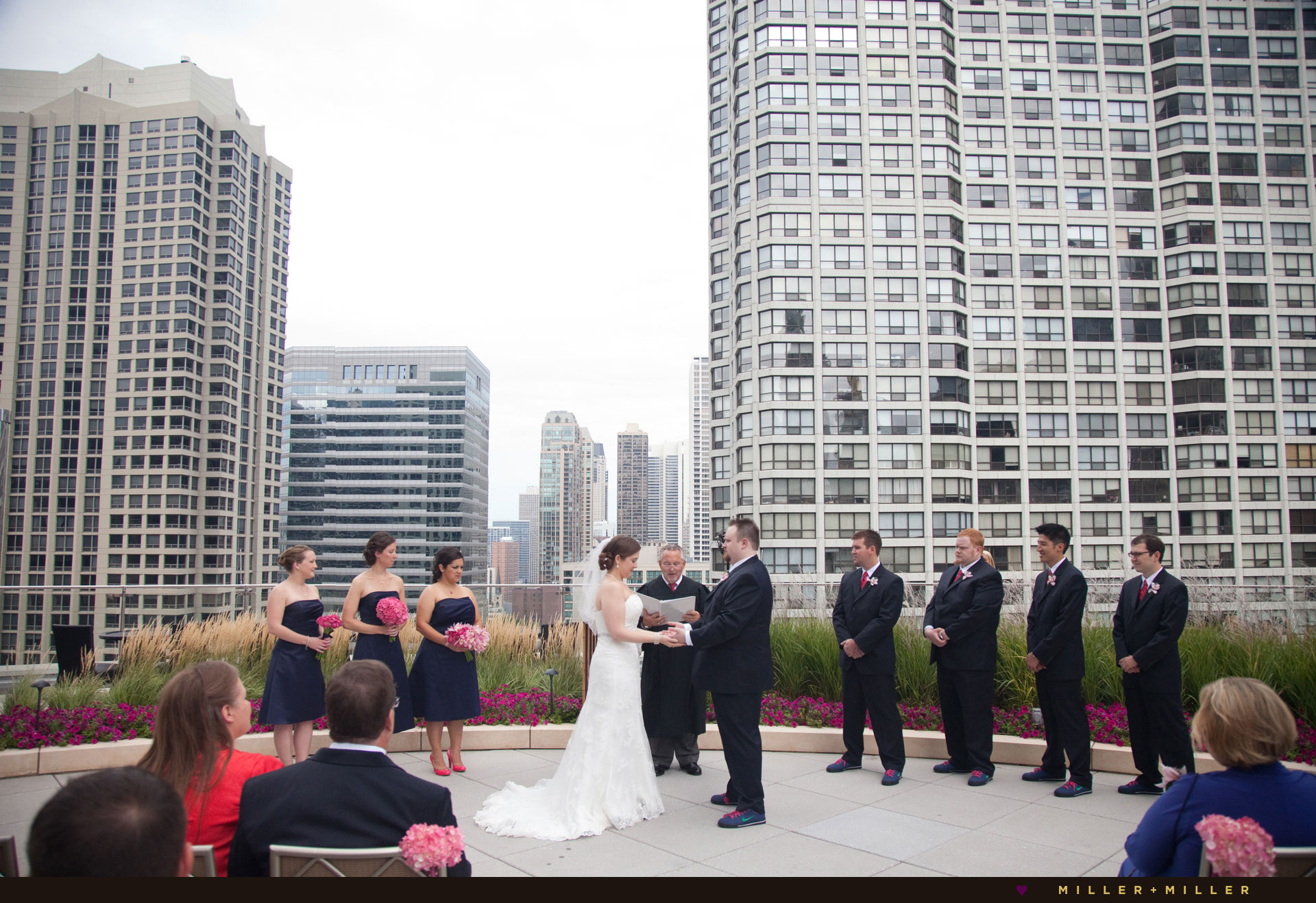 rooftop garden skyline ceremony