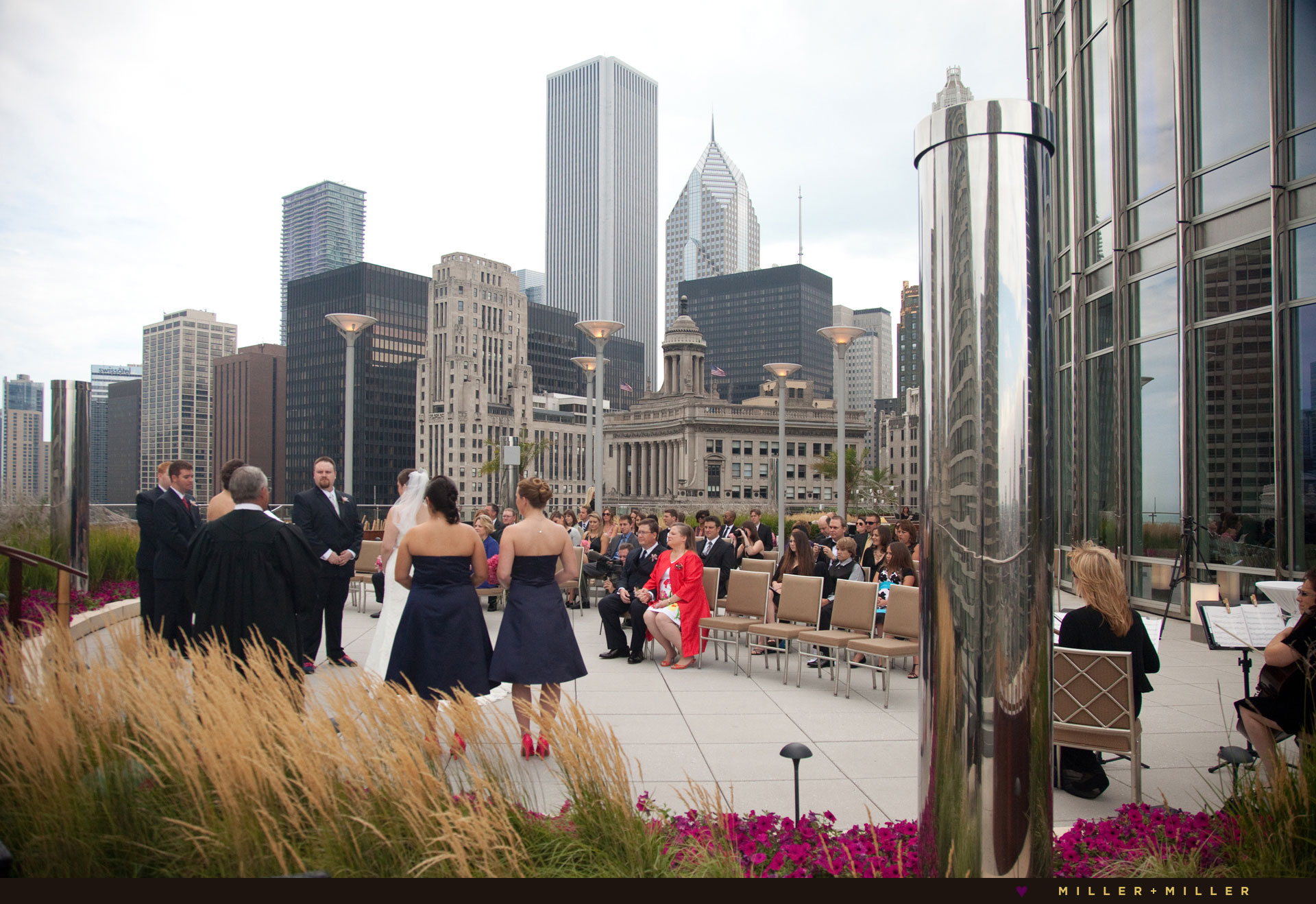 Trump hotel Chicago terrace wedding
