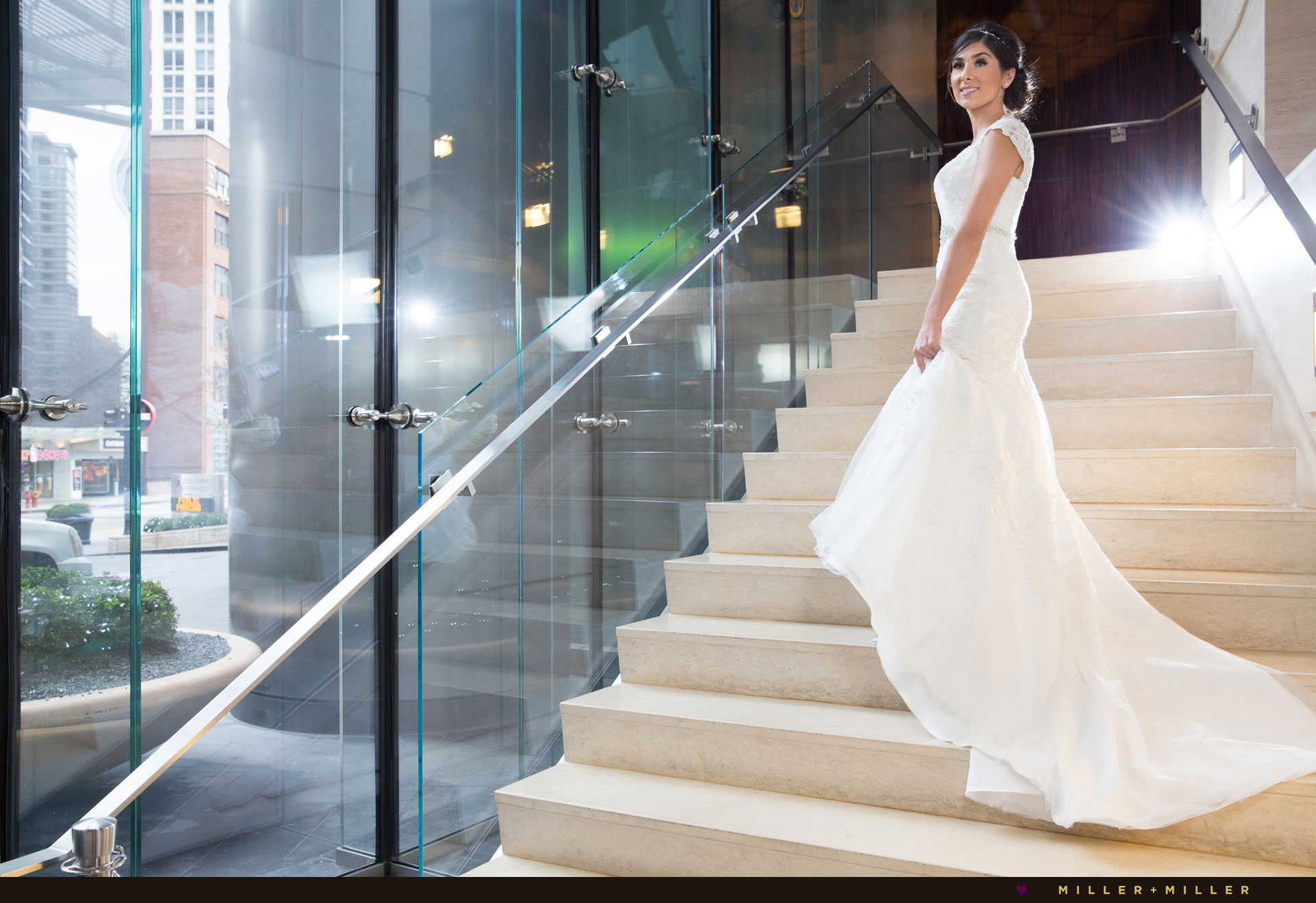 Trump Tower Chicago lobby wedding photos