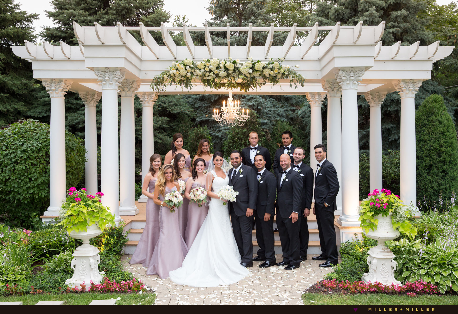 luxury garden wedding Chicago photography