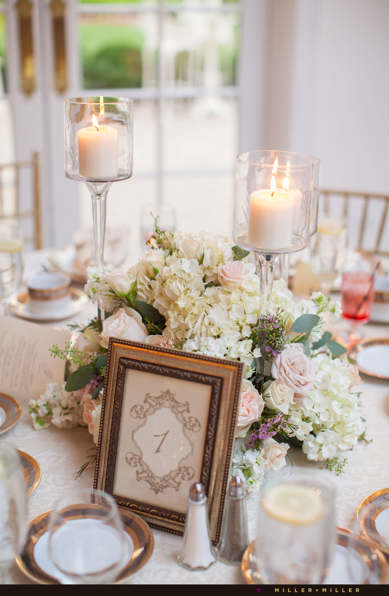 pink gold antique luxurious reception Chicago