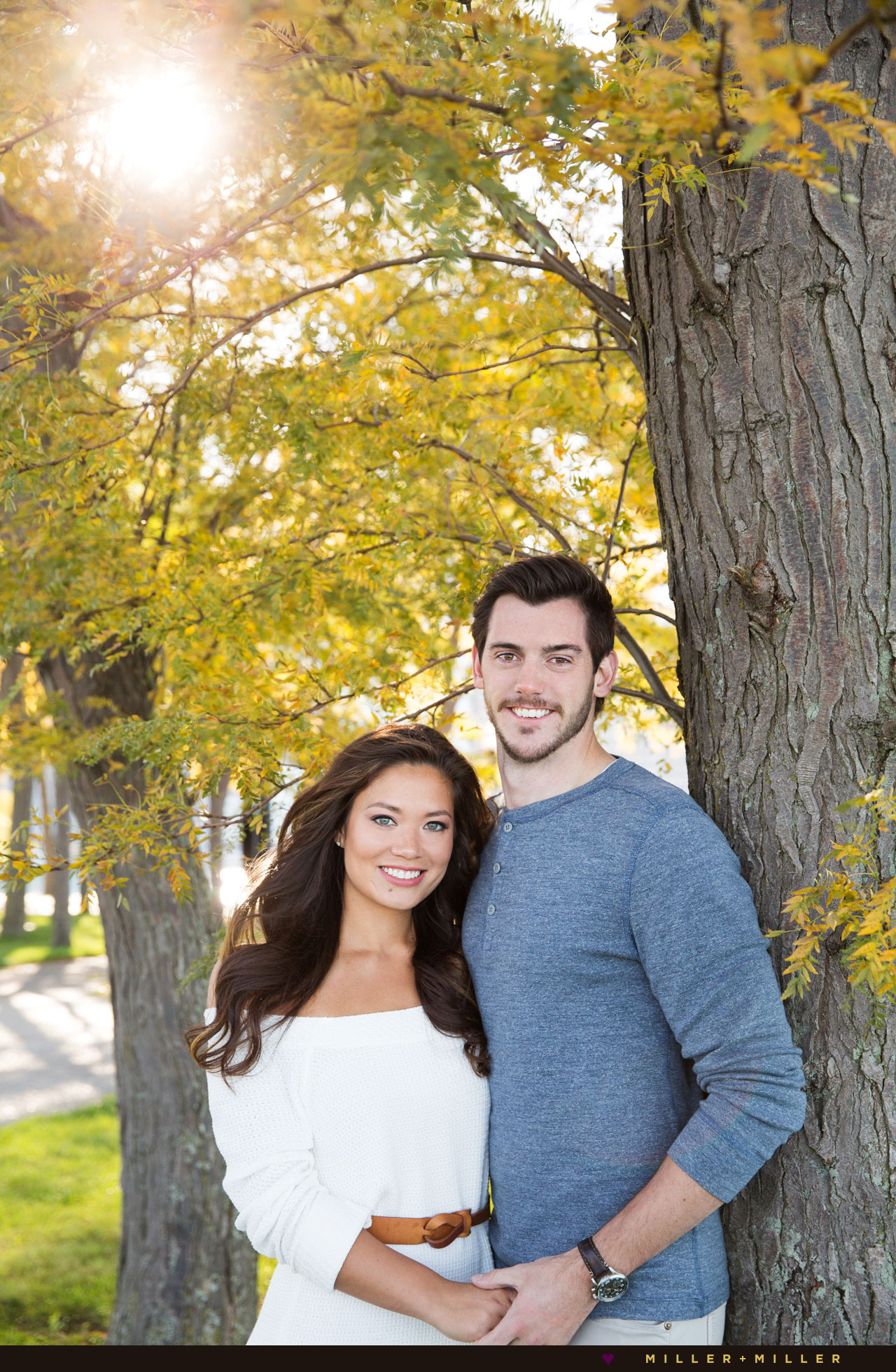 fall-trees-chicago-engagement