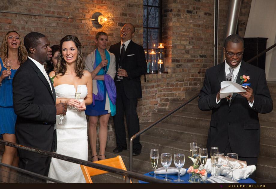 a new leaf contemporary brick wedding loft