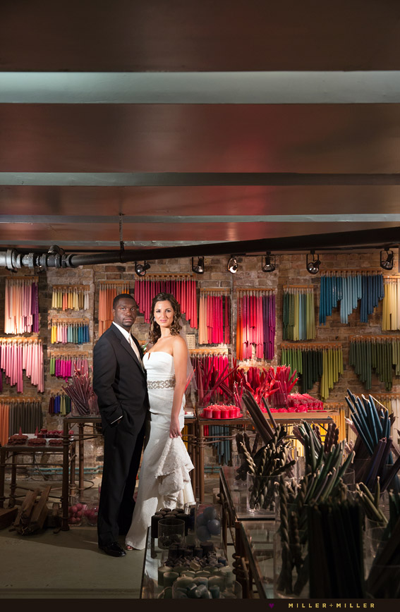 colorful wedding photos candle room a new leaf Chicago