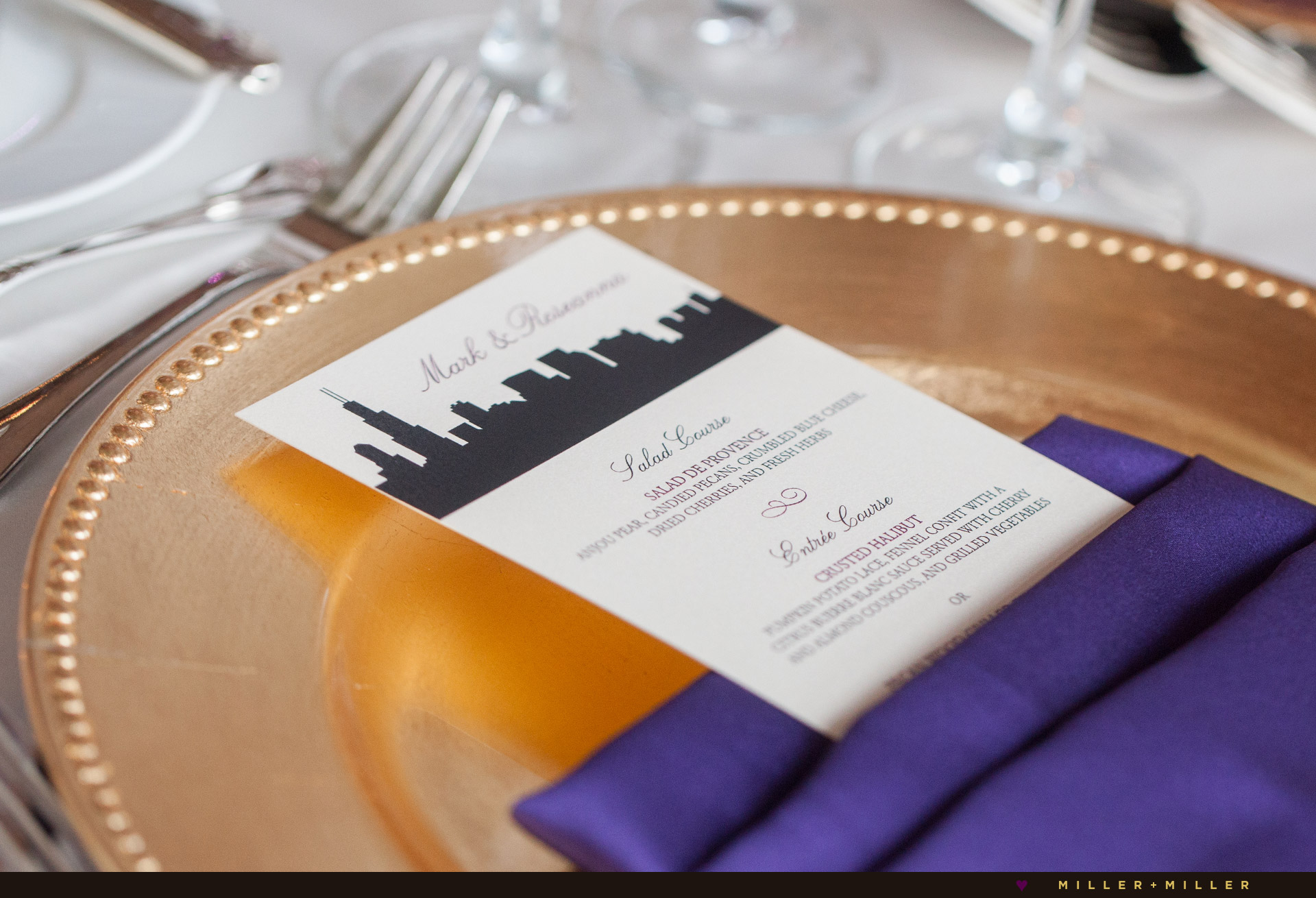 Chicago skyline invitations