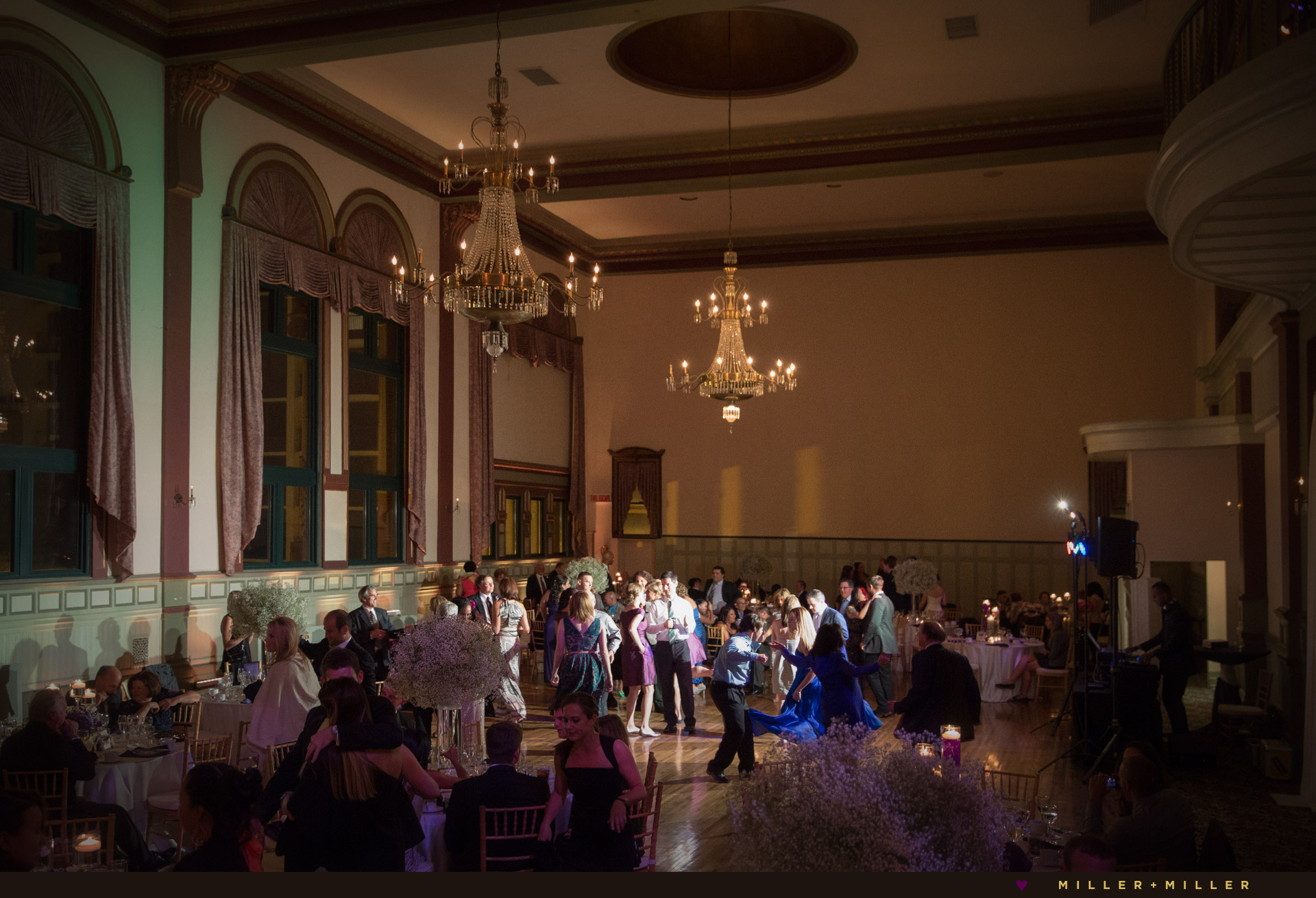 Germania Place vintage ballroom wedding reception